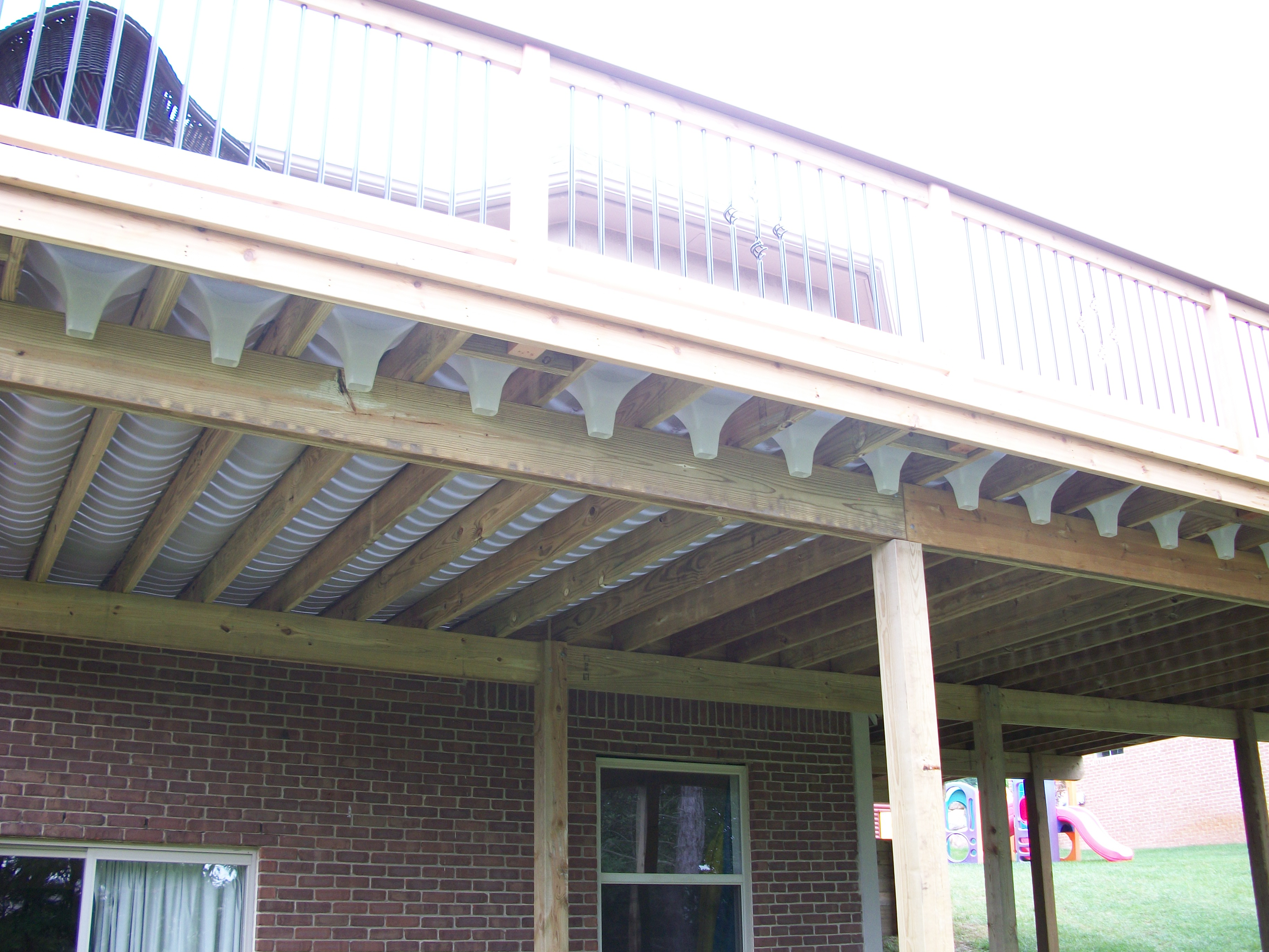 Under Deck Drainage Systems Howell Michigan Deck
